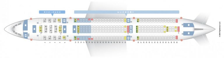 Seat map van de Air Berlin A330-200