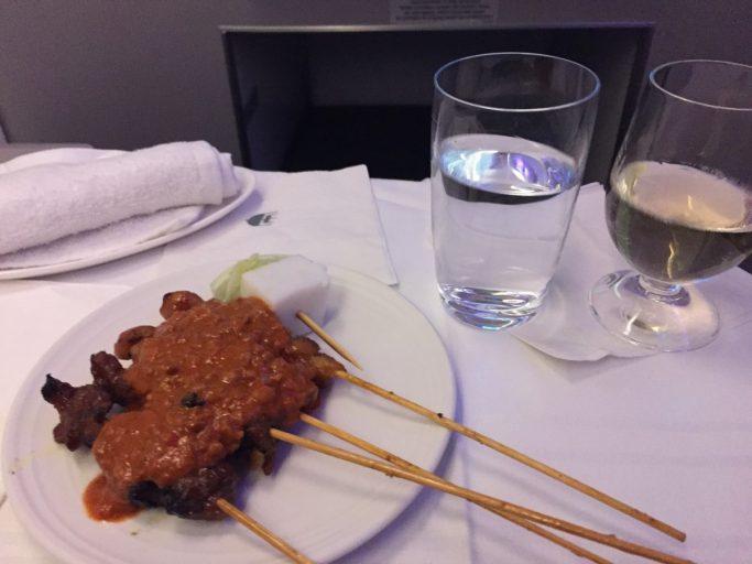 De bekende Satay van Malaysia Airlines