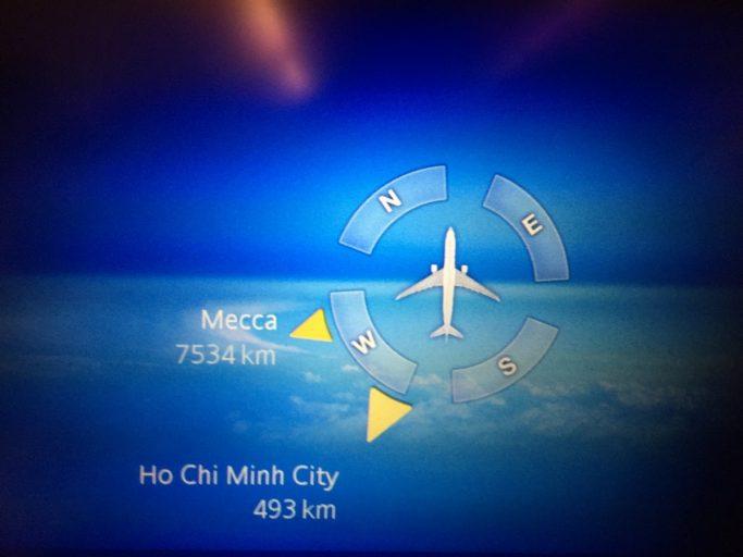 Mekka altijd op de route maps