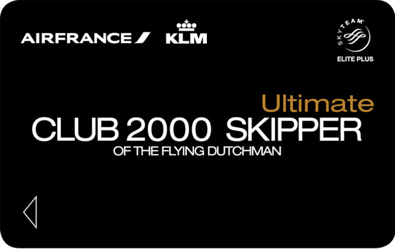 Flying Blue Ultimate Club 2000 card