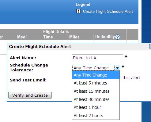 ExpertFlyer Vluchtschema Alert