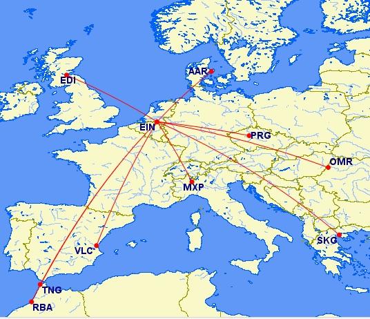 Nieuwe routes Ryanair vanaf Eindhoven
