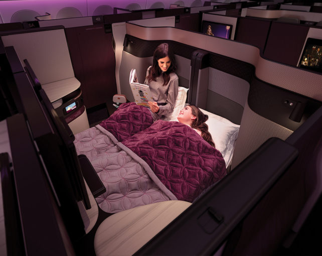 Vlieg jij straks in de Qsuite van Qatar Airways? (Bron: Qatar Airways)