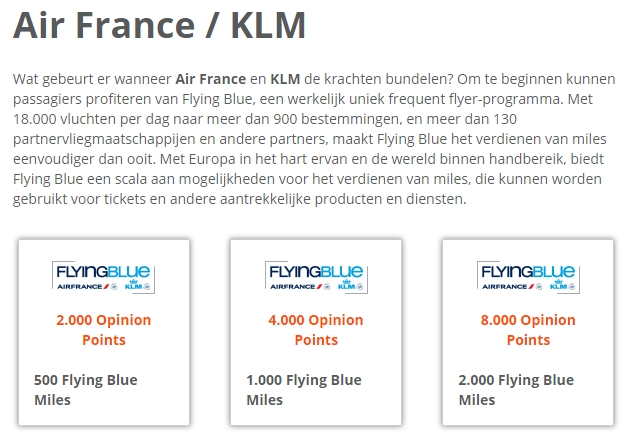 e-Rewards Flying Blue