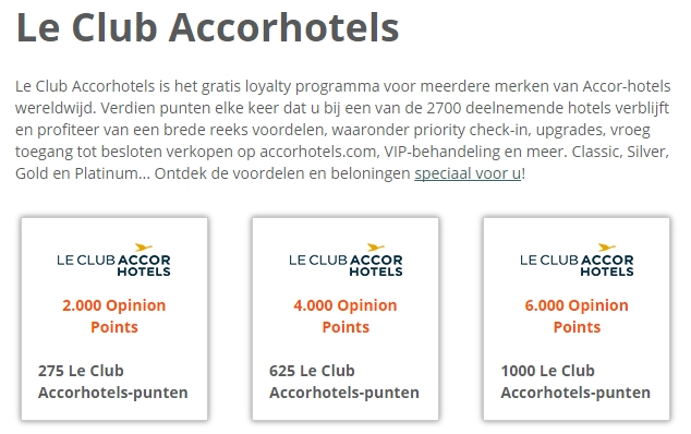 e-Rewards Le Club Accor