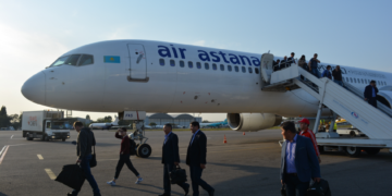 air astana, astana, almaty, kazachstan, review