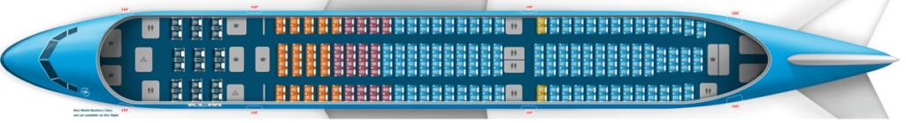KLM A330 stoelindeling