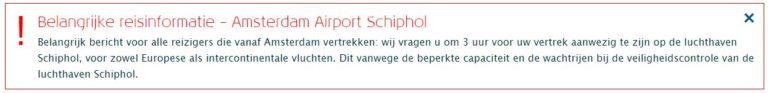rijen Schiphol