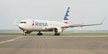 American Airlines 767 Amsterdam Dallas