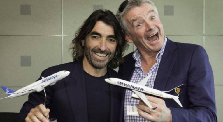 Ryanair, Air Europa, Madrid, feeder