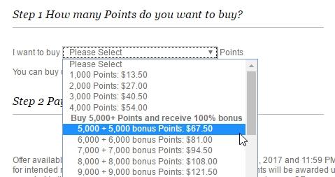 IHG bonus punten kopen ondergrens