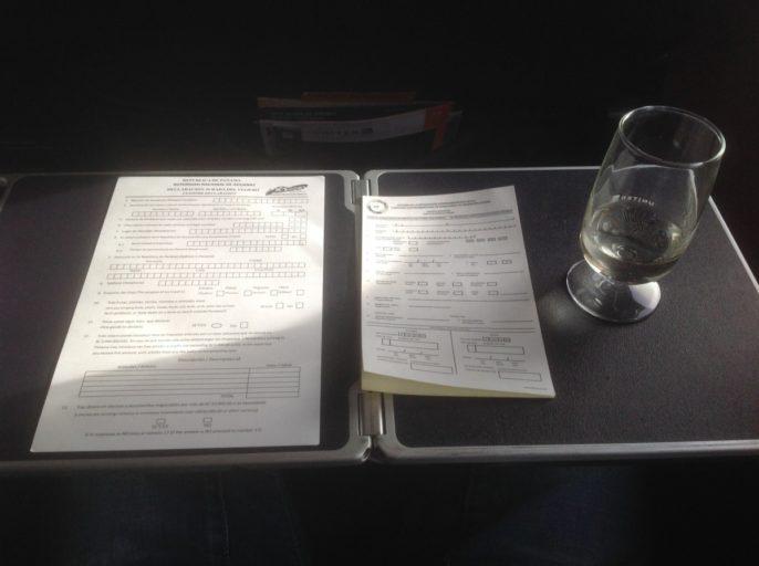 Customs declaration form Panama, United Airlines