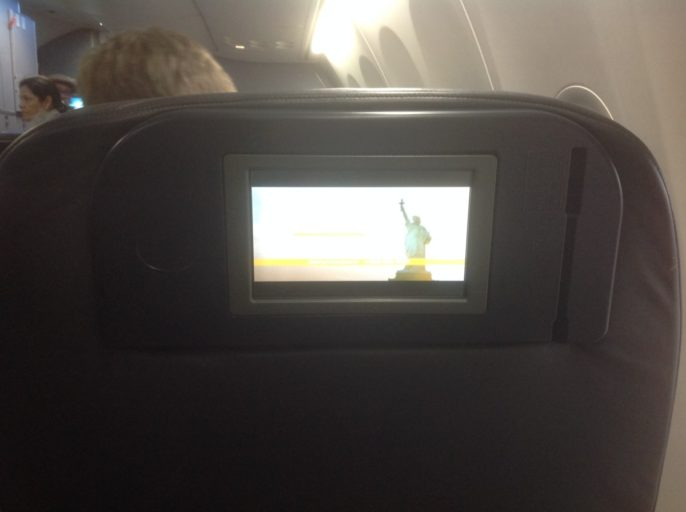 IFE United Airlines Business Class, In-flight entertainment