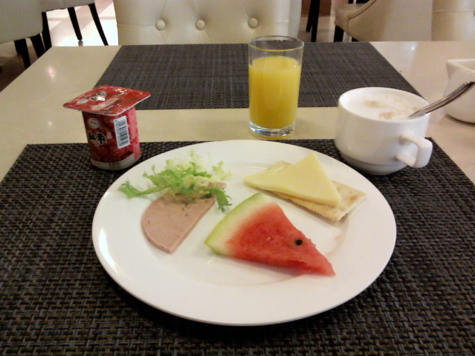 Ontbijt China, Mercure Beijing Downtown, Mercure, fris ontbijt, watermeloen bij ontbijt