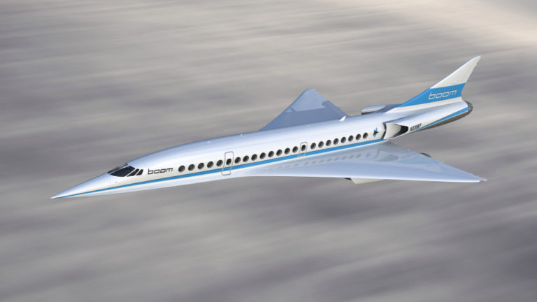 supersonic boom airliner