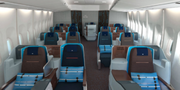 KLM, Business Class, Boeing 747, SkyTeam
