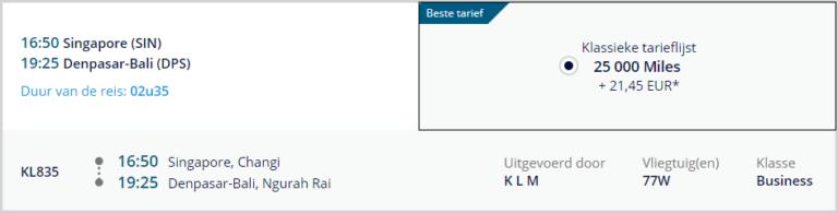 KLM, Business Class, Flying Blue, Award
