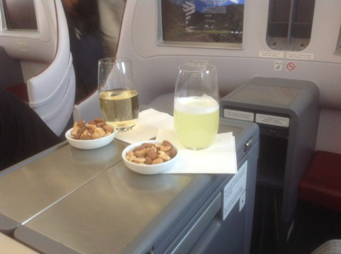 Pisco Sour, Frankfurt, Madrid, Business Class, LATAM