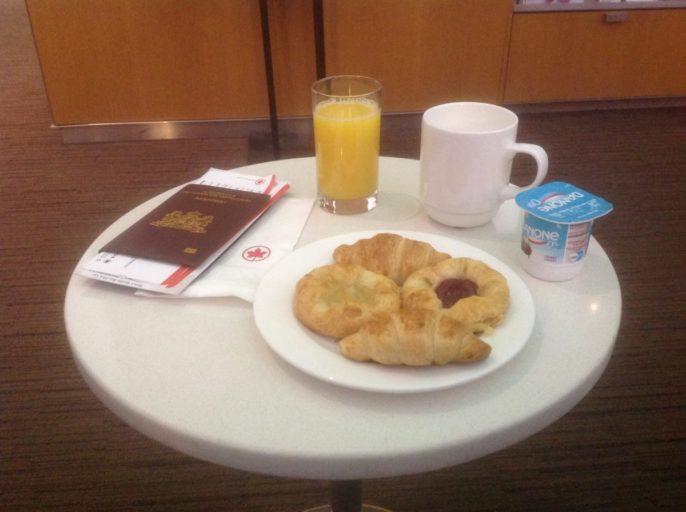 Ontbijt, Air Canada, Maple Leaf Lounge, Toronto