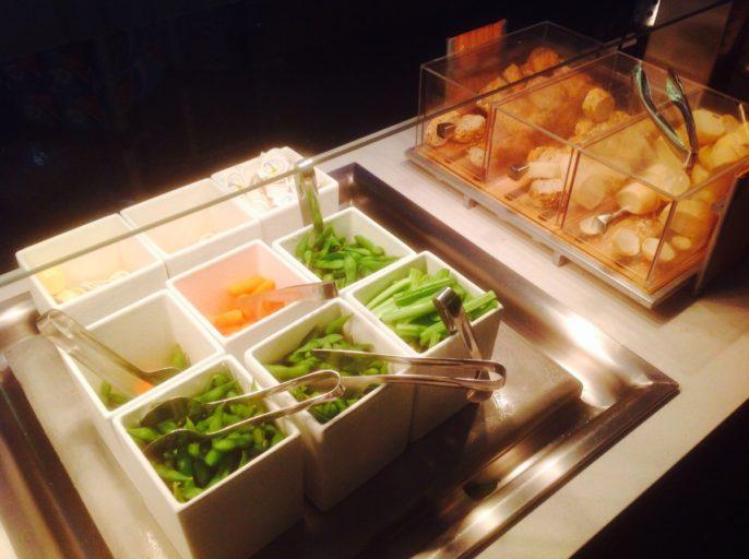 Koud buffet, Air Canada, Toronto, Lounge