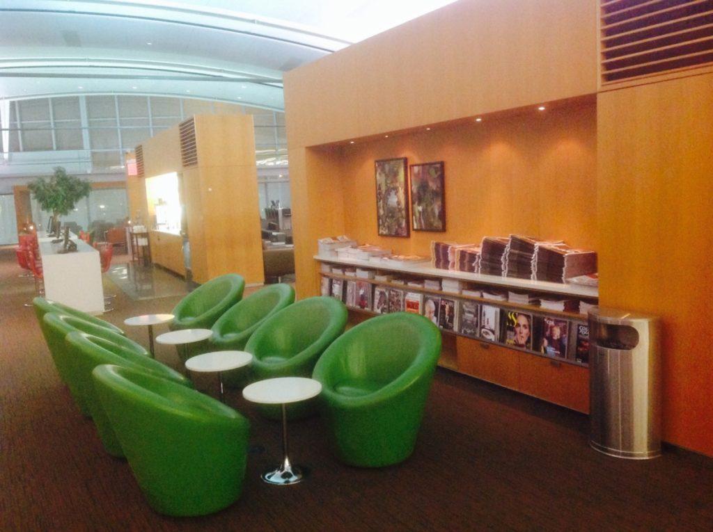 Maple Leaf Lounge, Kraten, tijdschriften, Air Canada, Toronto