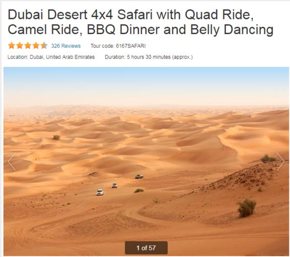 Dubai, Dessert Safari, Excursie, Viator, attracties