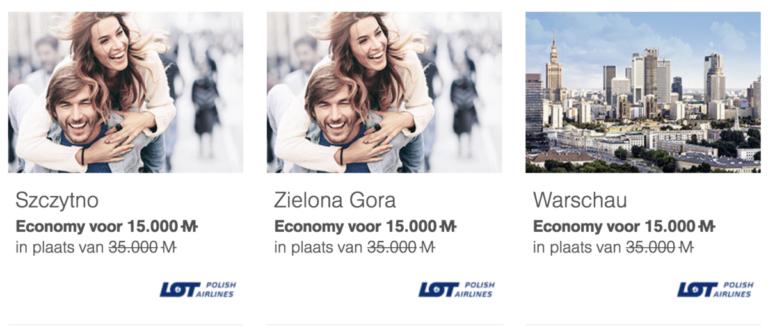 Enkele bestemmingen van LOT Polish Airways