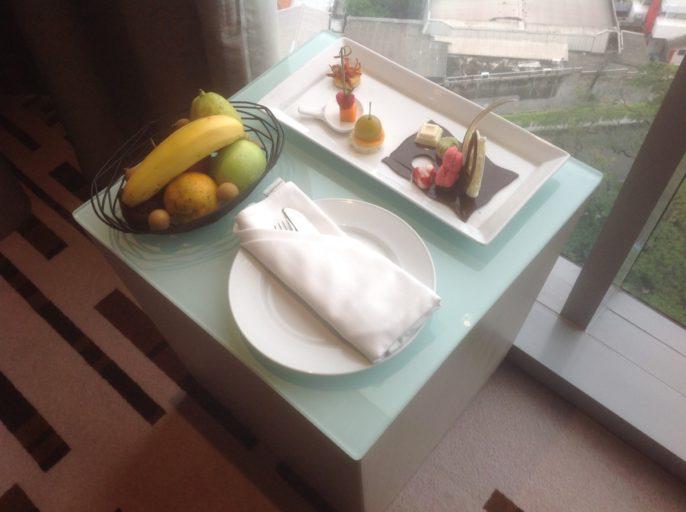 Fruit, Chocolade, welkomstgeschenk