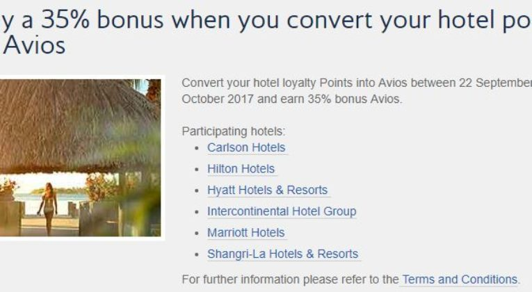35% bonus avios