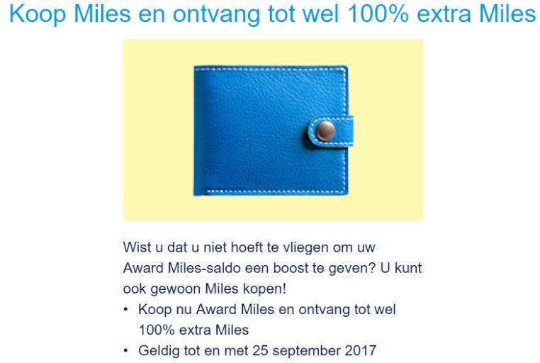 kopen van Flying Blue Miles