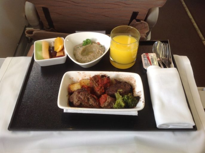 Meat Dish, Oman Air, Business Class