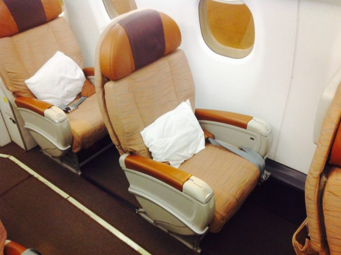 Business Class, Oman Air, Embrear
