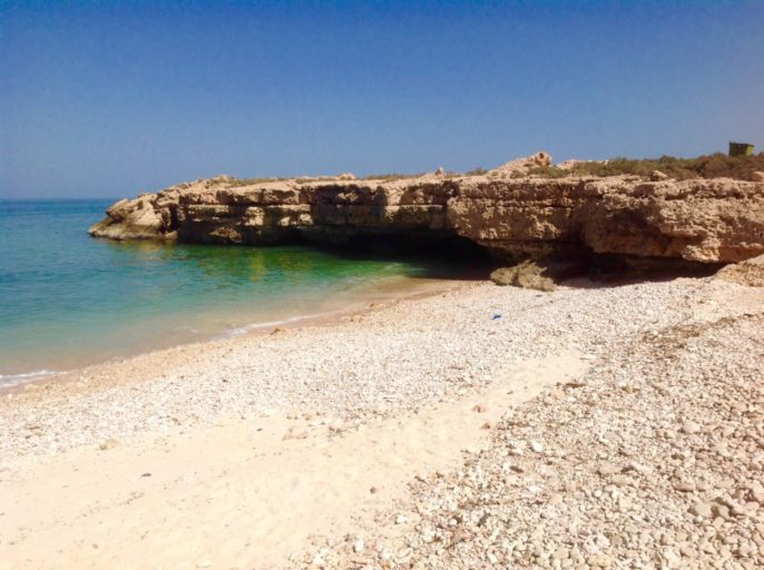 Oman, kust, Wadi Shab, strand