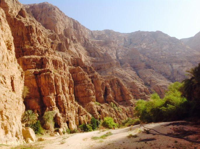 Wadi Shab, bergen, Oman