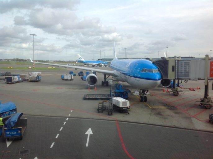 klm, airbus, a330, schiphol