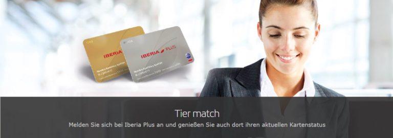 oneworld status match bij Iberia
