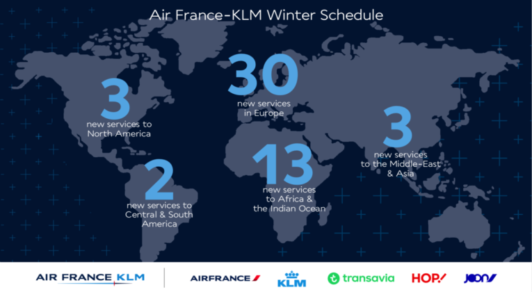 winterdienstregeling Air France KLM
