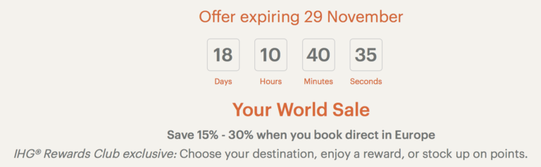 ihg world sale
