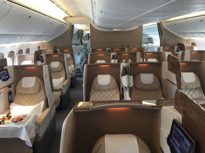 nieuwe Emirates Business Class