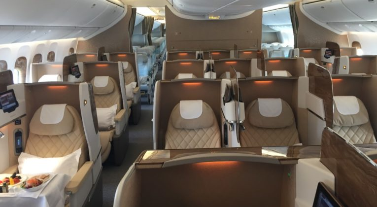 nieuwe Emirates Business Class