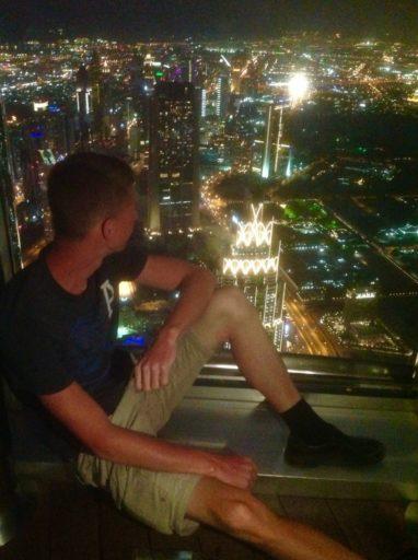 Burj khalifa, Dubai, mileage run