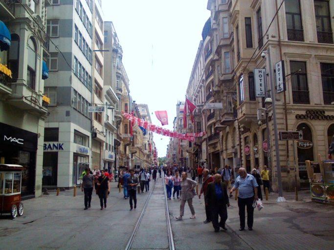 istanbul, winkelstraat, winkelen, taksimplein