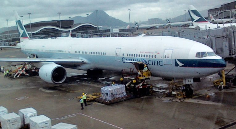 cathay pacific, business class, review, boeing 777