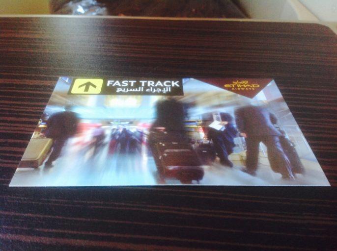 fast-track, Etihad, business class, Abu Dhabi