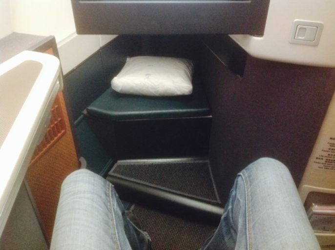 beenruimte, business class, a330 cathay pacific