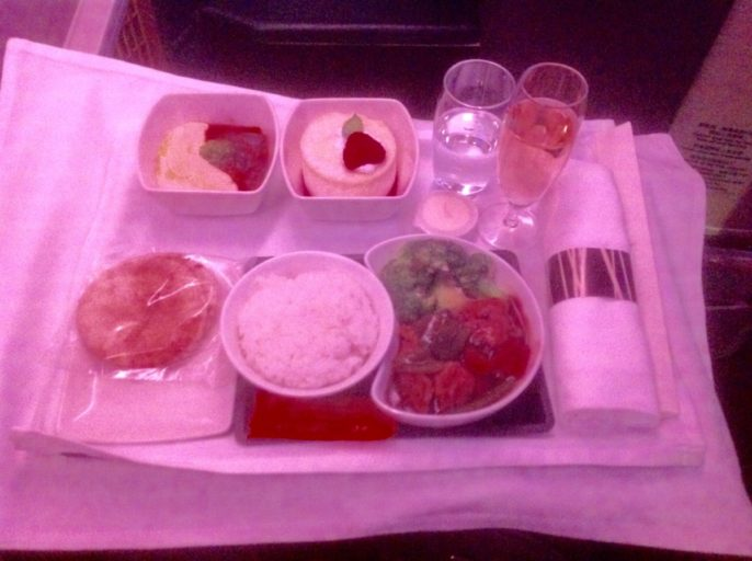 cathay pacific, business class, diner