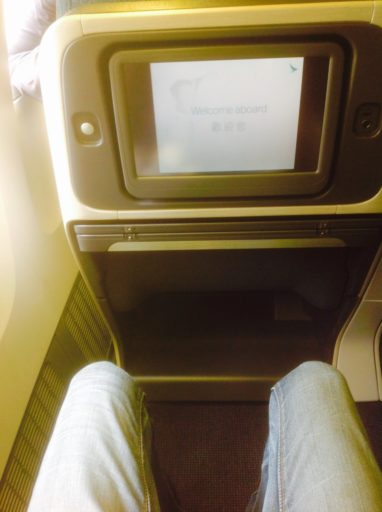 cathay pacific, business class, beenruimte Boeing 777-200