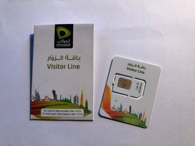 UAE tourist sim card