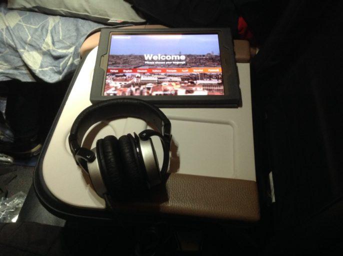 Turkish airlines, iPad, koptelefoon, business class, IFE