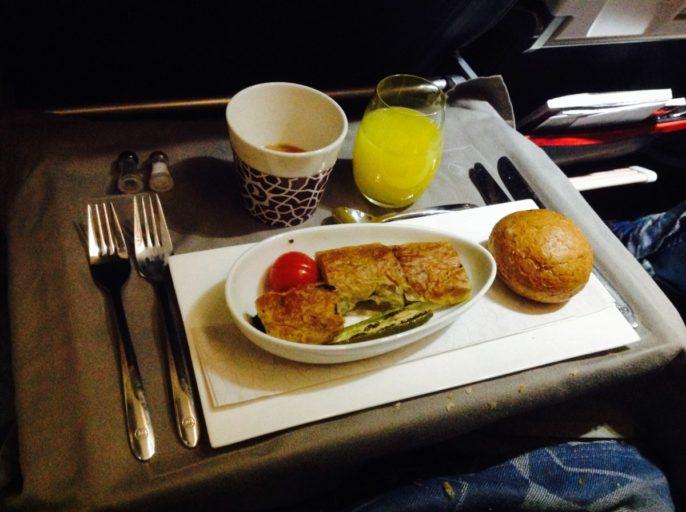 turks ontbijt, business class, Turkish airlines